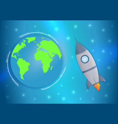 international day human space flight 12 april vector image