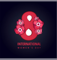 international womens day poster vector image