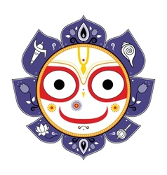 Jagannath Indian God of the Universe vector image