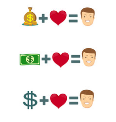 love and money vector image