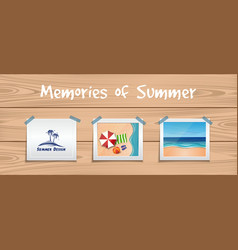 memories of summer summer design set vector image