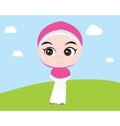Moslem islam girl vector