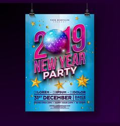 New year party celebration poster template design vector