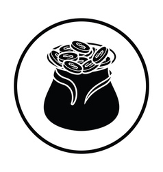 Open money bag icon vector image