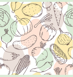 Pattern with vegetables vector