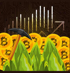 people business bitcoin vector image