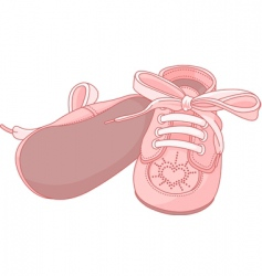 pink baby shoes vector image