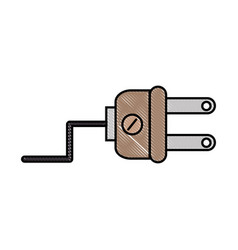 plug electric isolated vector image