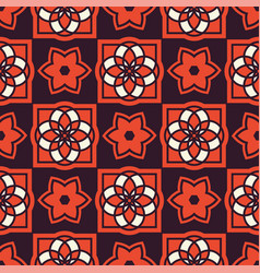 portuguese azulejo tiles seamless patterns vector image