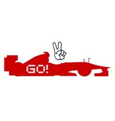 racing symbol vector image