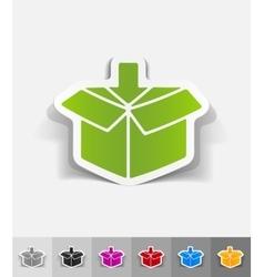 Realistic design element box vector