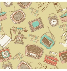 Retro radios and telephones vector