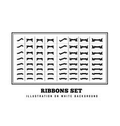ribbons set on white background vector image