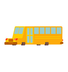 School bus isolated yellow bus for transportation vector