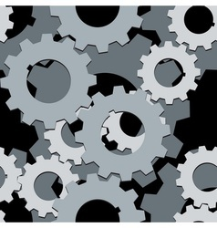 Seamless both side Cogwheels pattern vector image