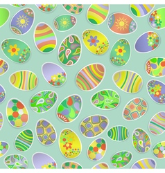 Seamless pattern of paper Easter eggs vector image