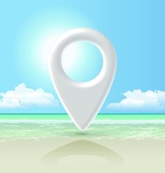 Seashore pin vector