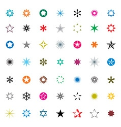 Set of Color Stars vector