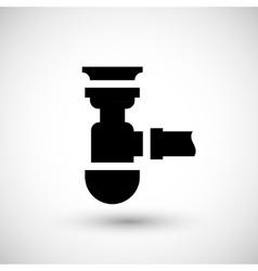 Sewage siphon icon vector
