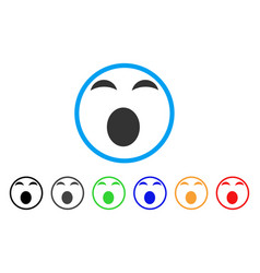 Sleepy smile rounded icon vector