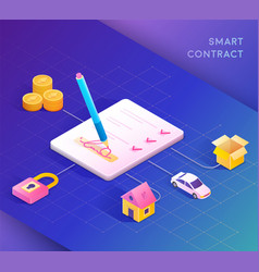 smart contract concept vector image