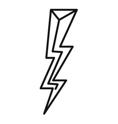 Strike lightning bolt icon outline style vector