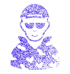 Swat soldier icon grunge watermark vector