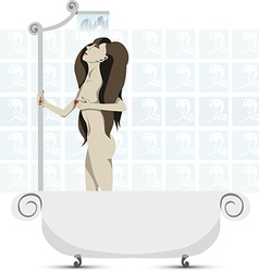 Taking a shower vector