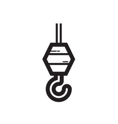 Thin line hook icon vector