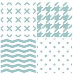 Tile pattern set with mint green polka dots x vector