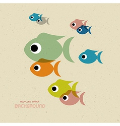 Transparent colorful fish icons vector