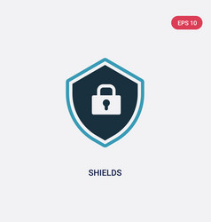 Two color shields icon from technology concept vector