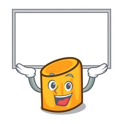 Up board rigatoni character cartoon style vector