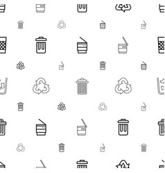 Waste icons pattern seamless white background vector