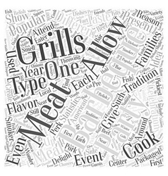 Why is Barbequing So Popular Word Cloud Concept vector