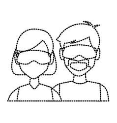 winter couple avatar vector image