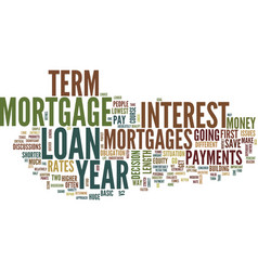 Year vs year mortgages text background word cloud vector