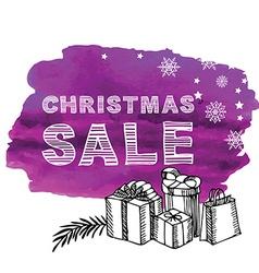 Christmas poster sale vector