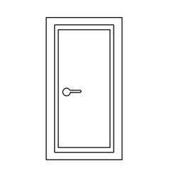 Door the black color icon vector