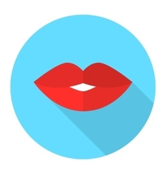Sexy woman lips flat icon vector image