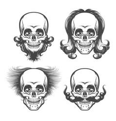 the human skulls set vector image vector image