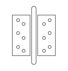 accesories for door the black color icon vector image vector image