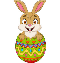 easter bunny hatched from an egg vector image vector image