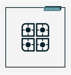 gas burner icon simple vector image