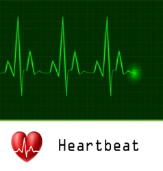 Heart beat text frame vector image vector image