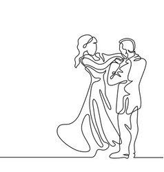 loving couple on white background vector image vector image