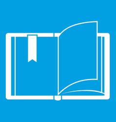 open book icon white vector image