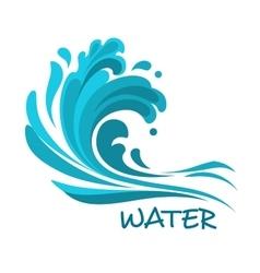 Stormy sea wave abstract symbol vector