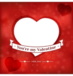 Valentines Day card poster vector image vector image