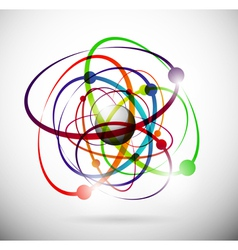 abstract atom background vector image vector image